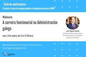 Imaxe do webinario - Webinario A carreira funcionarial na Administración galega